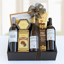 wine and cheese gift baskets temptation deluxe wine basket