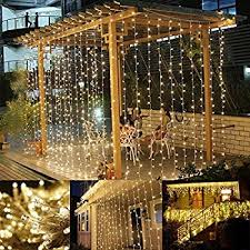 amazon com le led window curtain icicle lights 306 led 9 8ft x