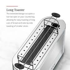 Toaster Glass Sides 2 Slice Stainless Steel Long Toaster Silver Glass Russell Hobbs