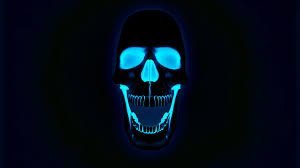 halloween background skulls glowing neon skull wallpaper wallpapers pinterest skull