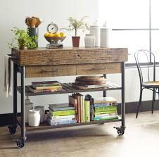 Wood Kitchen Island by Industrial Reclaimed Wood Kitchen Island Cart On Wheels Zin Home