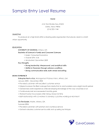 Objective Resume Examples Entry Level Resume Objective Business Major