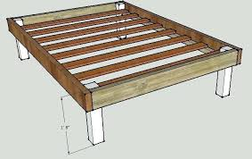 Build Platform Bed Build Your Own Platform Bed Frame Ghanko