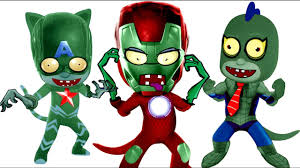 pj masks zombie spider man captain america iron man coloring pages