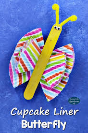 Butterfly Crafts For Kids To Make - cupcake liner butterfly craft for kids butterfly crafts