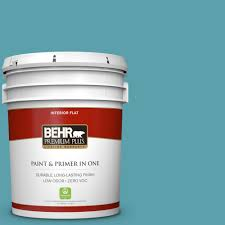 home depot interior paint brands behr premium plus 5 gal bic 53 turquoise flat interior paint