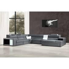 Gray Leather Sectional Sofa Divani Casa Modern Unique Sofa Designs
