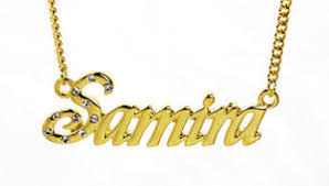 Gold Chain With Name 18k Gold Plated Necklace With Name Samira Engagement Name Chain