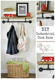 diy industrial coat rack beneath my heart