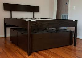 Free Woodworking Plans Bed With Storage by Bed Frames Diy Bed Frame Plans King Size Bed Frame With Storage