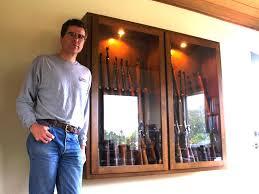 Glass Gun Cabinet Spiffy New Gun Cabinet The New Glass Doored Gun Cabinet I U2026 Flickr