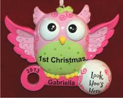 personalized baby christmas ornament what a hoot baby girl s christmas christmas ornament