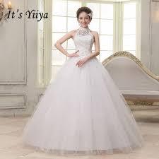 cheap plus size wedding dresses 2017 new halter lace simple wedding gowns white princess cheap
