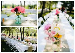 outdoor wedding reception table decorations
