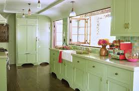 Designers Share Their Favorite Paint Colors For Green Kitchens - Green cabinets kitchen