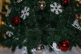 The Green Background Is Pine Tree The Christmas Tree Decor White