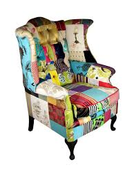 scrolling wings patchwork chair kelly swallow bespoke chairs