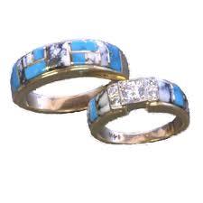Turquoise Wedding Rings by Turquoise Wedding Rings Carolina Herrera Wedding Dresses