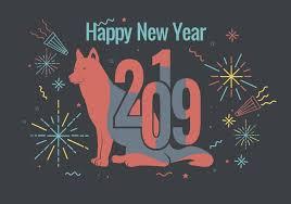 Happy New Year 2019 Vector  Download Free Vector Art Stock