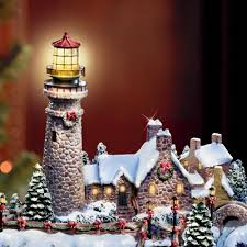 thomas kinkade halloween the thomas kinkade christmas seaside village hammacher schlemmer