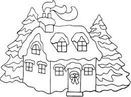 xmas coloring pages north pole snowy christmas houses color