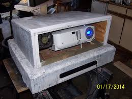 static tombstone for hiding projector