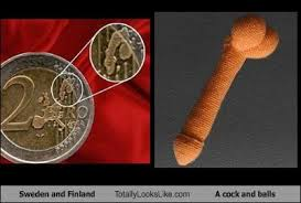 Cock Meme - sweden and finland totally looks like a cock and balls