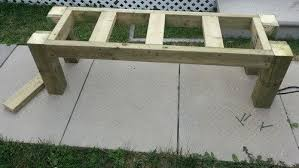 How To Build Wood Bench How To Build A Simple Patio Deck Bench Out Of Wood Step By Step