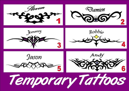 custom temporary tattoo ebay