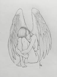 25 beautiful angel sketch ideas on pinterest drawings of angels
