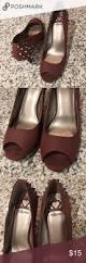 maroon peep toe heels with spikes maroon peep toe spikes at heel