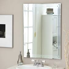 Modern Bathroom Mirrors by Bathroom Minimalist Bathroom Wall Mirror On The Light Brown