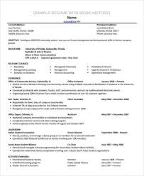 Sample Resume With Gaps In Employment Work History Template Free Blanks Resumes Templates Posts