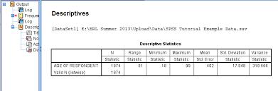 descriptives analysis dispersion and variability erc