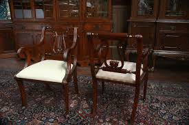 Duncan Phyfe Dining Room Table Lyre Back Dining Room Chairs Lyre Back Dining Chairs Pair Of Arms