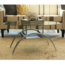 Glass Coffee Table Set Amazon Com Walker Edison Glass Oval Coffee Table Kitchen U0026 Dining