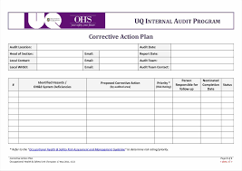 plan template for workplace eviction notice doc corrective action
