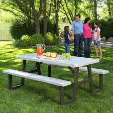 60030 w frame 6 foot folding picnic table bench