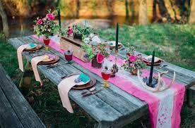 deco mariage boheme chic décoration table de mariage bohème chic goldy mariage