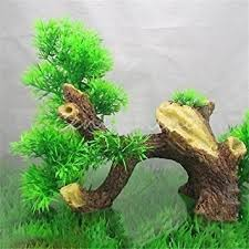 plastic bonsai wood tree aquarium fish tank