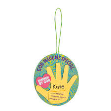god made me special handprint ornament craft kit