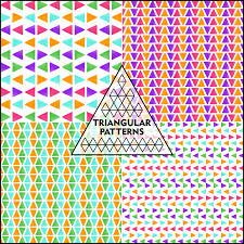 triangle pattern freepik triangular patterns with watercolor fill set of 4 download now on