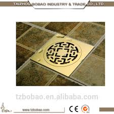 Decorative Sink Drains Antique Brass Floor Drain Gold Shower Drain Outdoor Drain Cover