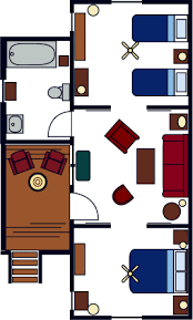 Two Bedroom Cabin Floor Plans Family Cabins Evergreen Lodge