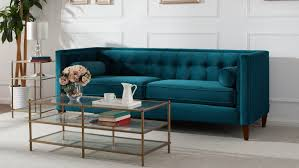 Teal Chesterfield Sofa Harcourt Tufted Chesterfield Sofa In Teal Reviews Birch