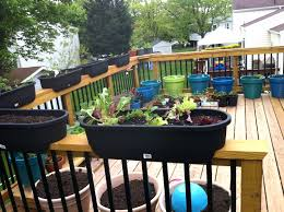 patio ideas deck railing planters menards self watering railing