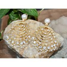 chandbali earrings chand bali earrings studded with baguette diamonds