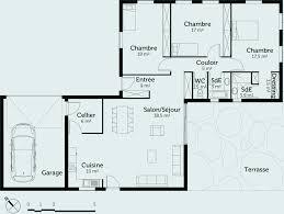 maison 3 chambres 22 plan maison 3 chambres plain pied garage décoration de maison