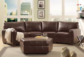 Light Brown Ottoman by Khaki Leather Tufted Sectional Sofa Combination With Oval Tufted