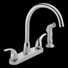 chrome moen kitchen sink faucets deck mount two handle pull out